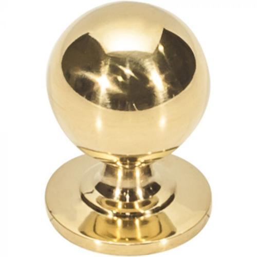 Vesta Fine Hardware - Divina Round Smooth Knob 1 Inch Unlacquered Brass Unlacquered Brass