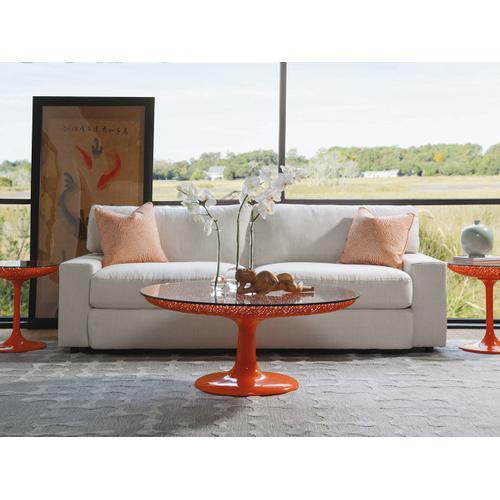 Seascape Round Orange Cocktail Table