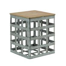 Lewis Galvanized Side Table