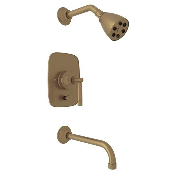 French Brass Michael Berman Graceline Pressure Balance Shower Package with Metal Lever Graceline Series Only