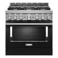 See Details - KitchenAid® 36'' Smart Commercial-Style Gas Range with 6 Burners - Imperial Black