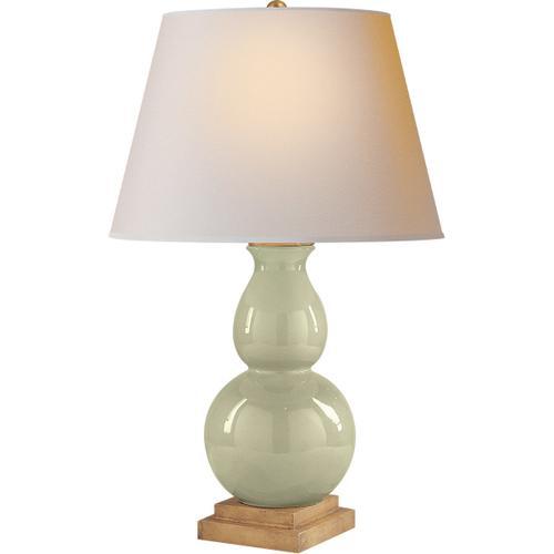 Visual Comfort - E. F. Chapman Gourd Form 26 inch 100.00 watt Celadon Crackle Porcelain Decorative Table Lamp Portable Light