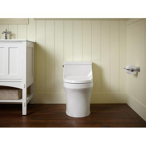 Thunder Grey One-piece Round-front 1.28 Gpf Toilet With Slow Close Seat