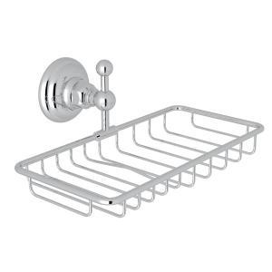 Polished Chrome Italian Bath Wall Mount Double Soap Holder Basket Product Image