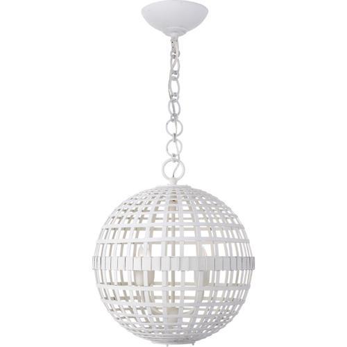AERIN Mill 4 Light 16 inch Plaster White Globe Lantern Ceiling Light, Small