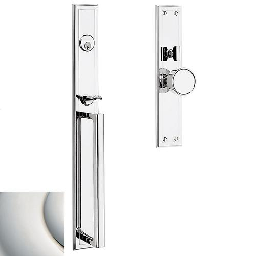 Polished Nickel with Lifetime Finish Hollywood Hills Mortise Handleset Trim
