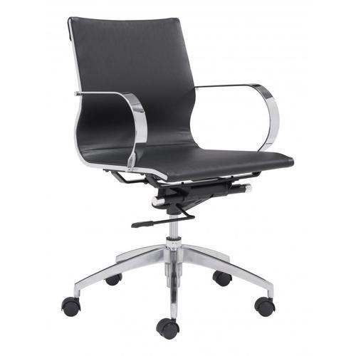 Zuo Modern - Glider Low Back Office Chair Black