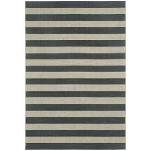 "Finesse-Stripe Noir - Rectangle - 3'11"" x 5'6"""