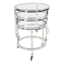View Product - Telescoping Stainless Steel Bar Cart