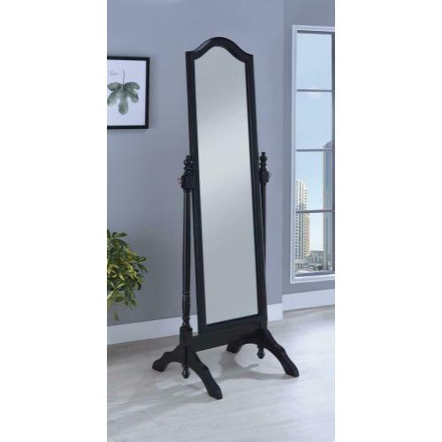 Coaster - Transitional Black Cheval Mirror