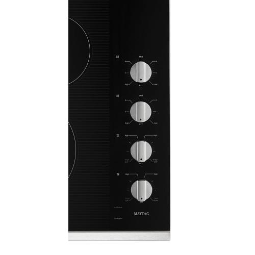Maytag - 30-Inch Electric Cooktop with Reversible Grill and Griddle