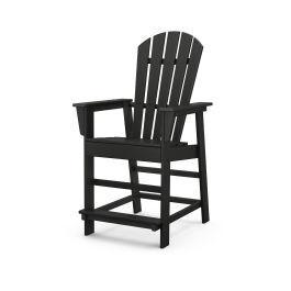 Polywood Furnishings - South Beach Counter Chair in Black