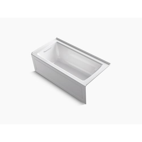 "White 60"" X 30"" Alcove Bath With Bask Heated Surface, Integral Apron, Integral Flange and Left-hand Drain"