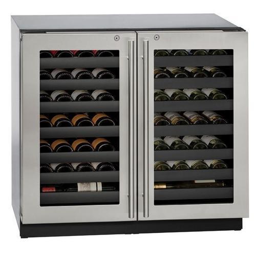 "U-Line - 3036wcwc 36"" Dual-zone Wine Refrigerator With Stainless Frame Finish (115 V/60 Hz Volts /60 Hz Hz)"