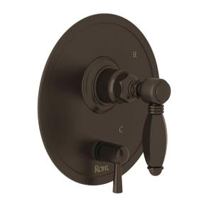 Pressure Balance Trim with Diverter - Tuscan Brass with Metal Lever Handle