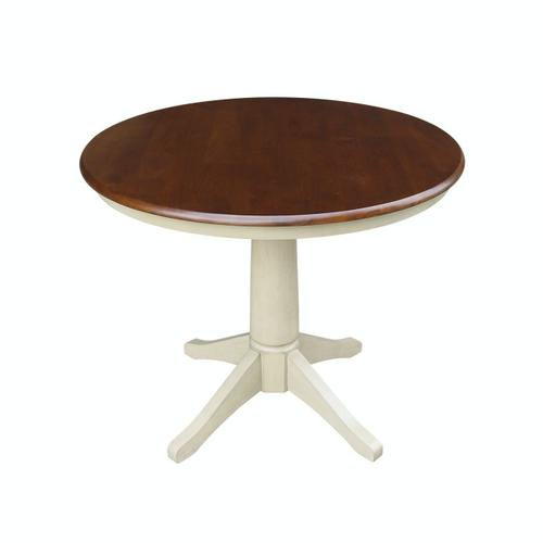 """Product Image - 36"""" Pedestal Table in Espresso / Almond"""