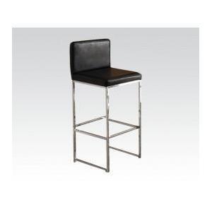 Acme Furniture Inc - Bk/chrome Bar Chair