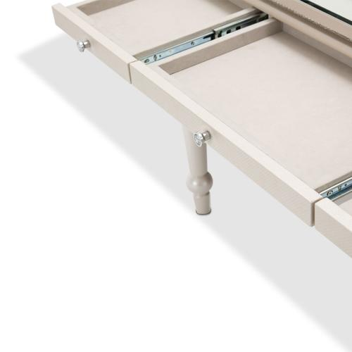 Amini - Writing Desk With Glass Top