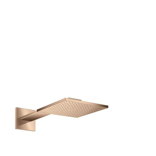 Polished Red Gold Overhead shower 250/250 2jet with shower arm