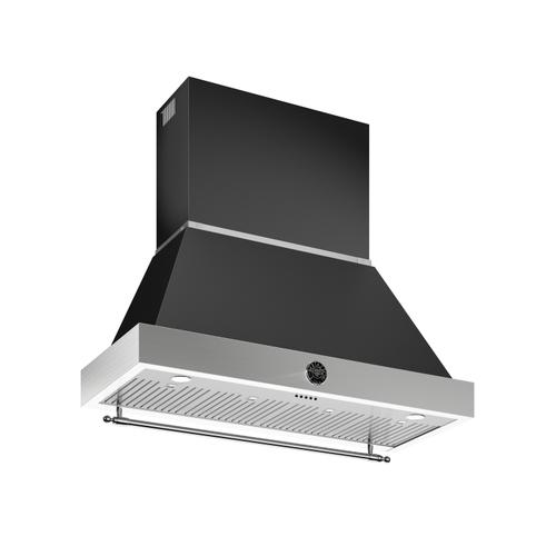 48 Wallmount Canopy and Base Hood, 1 motor 600 CFM Matt Black