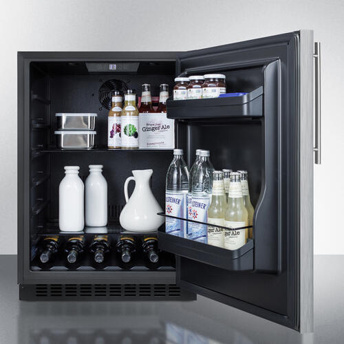 "24"" Wide Built-in All-refrigerator, ADA Compliant"