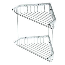 "Corner Shower Basket 10""H By 8 1/2""W in Chrome"
