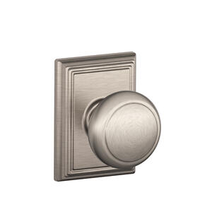 Andover Knob with Addison trim Hall & Closet Lock - Antique Brass Product Image