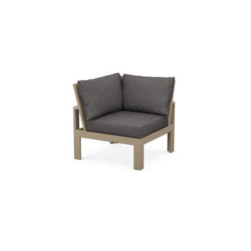 Modular Corner Chair in Vintage Sahara / Ash Charcoal