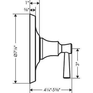 Chrome Pressure Balance Trim