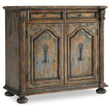 See Details - Living Room Two-Door Two-Drawer Chest w/Bun Feet