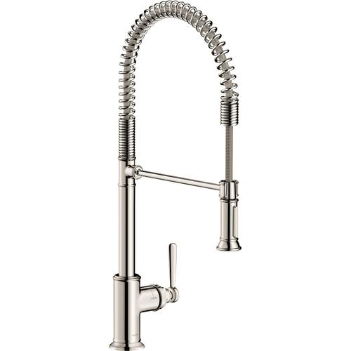AXOR - Polished Nickel Semi-Pro Kitchen Faucet 2-Spray, 1.75 GPM
