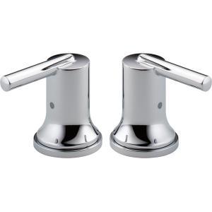 Delta Faucet Company - Chrome Metal Lever Handle Set - Roman Tub