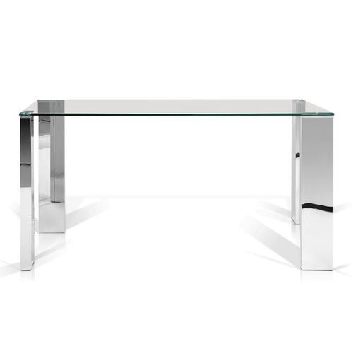 Baron Rectangular Glass Top Dining Table