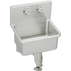 "Elkay Stainless Steel 25"" x 19-1/2"" x 12, Wall Hung Service Sink Kit Product Image"