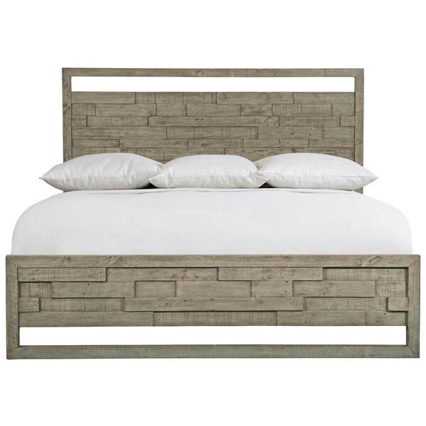 Queen Shaw Panel Bed in Morel