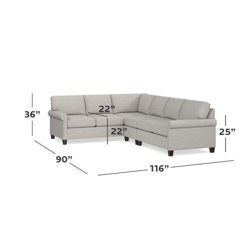 Seamist Spencer Large L-Shaped Sectional