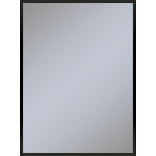 "Profiles 29-1/8"" X 39-1/4"" X 3/4"" Framed Mirror In Matte Black"