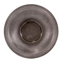 View Product - Textured Smoke Black Metal Platter, Small