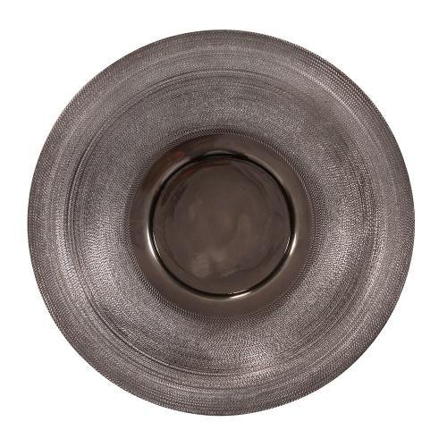 Howard Elliott - Textured Smoke Black Metal Platter, Small