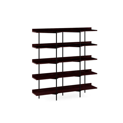 Shelving System 5305 in Charcoal Stained Ash Satin White