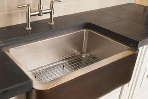 Copper/stainless Farmhouse Sink Stainless Steel / Stainless Steel Sink Grid Product Image