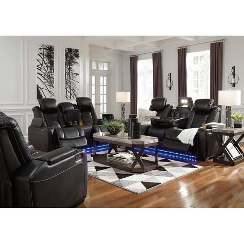 - Party Time Power Reclining Sofa w/ Adjustable Headrest