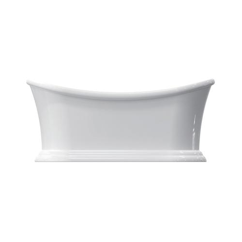 """Nemo 67"""" Acrylic Double Slipper Tub with Integral Drain and Overflow - Oil Rubbed Bronze Drain and Overflow"""