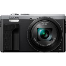 LUMIX 4K Digital Camera ZS60, 18 Megapixels, 24-720mm LEICA DC Lens Zoom, WiFi and Electronic Viewfinder - Silver