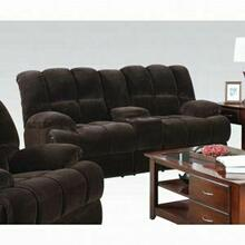 ACME Ahearn Loveseat w/Console (Motion) - 50476 - Chocolate Champion