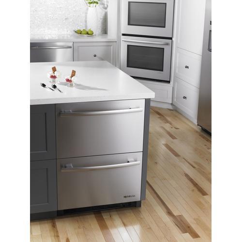 "Euro-Style 24"" Refrigerator/Freezer Drawers Stainless Steel"