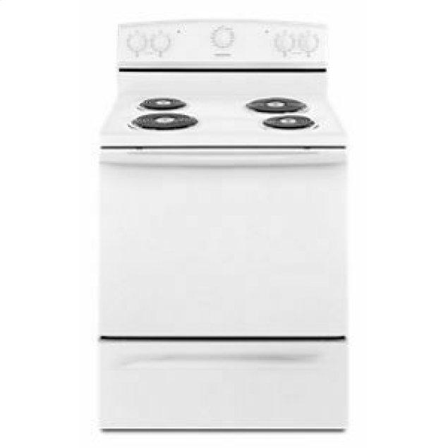 Amana 30-inch Electric Range with Warm Hold - White