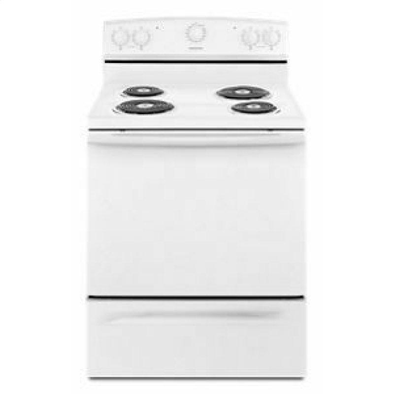 30-inch Electric Range with Warm Hold - White