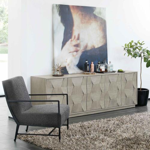 Linea Entertainment Console in Cerused Greige (384)