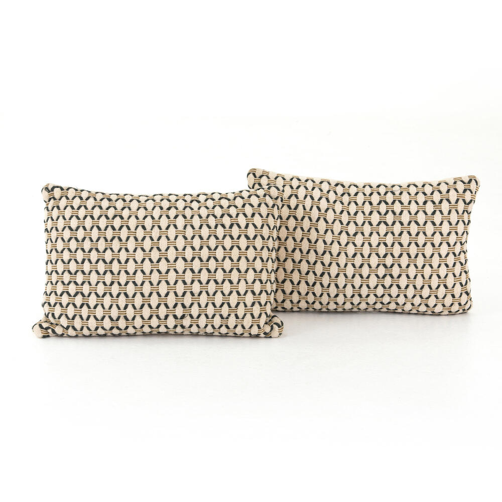 "Mariposa Diamond Pillow, Set of 2-16x24"""